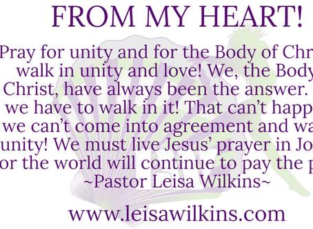 PRAY FOR UNITY!