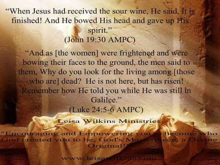 REFLECTION – THE FINISHED WORK OF JESUS!