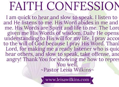 BE SLOW TO SPEAK!