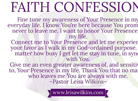 AWARENESS OF GOD'S PRESENCE!