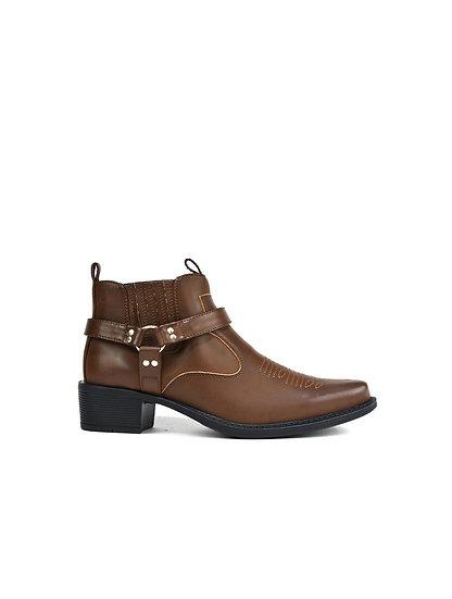 Men's Brown Mid Top Cowboy Boots