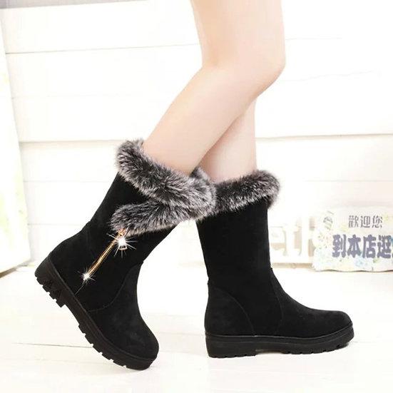Womens Warm Plush Short Fur Boots