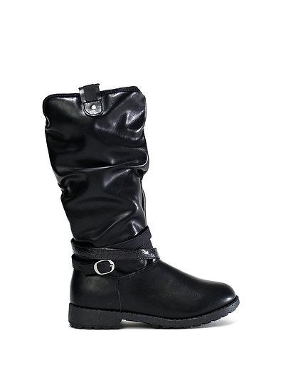 Eva Girl's Long Black Boots