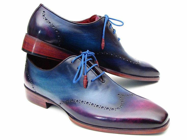 Paul Parkman Blue & Purple Wingtip Oxford Shoes
