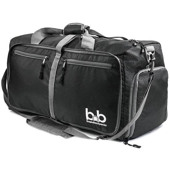 B&B 60L Medium Gym Duffle Bag With Pockets