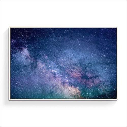 Glitter Galaxy Framed Canvas Wall Art