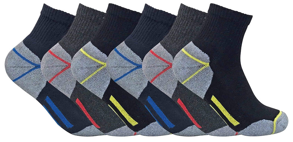 6 Pairs Mens Low Cut Ultimate Work Socks
