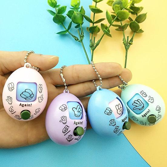 4 x Rock Paper Scissors Keychain Toys
