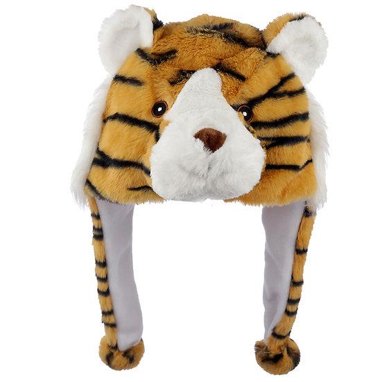 Fun Plush Tiger Hat