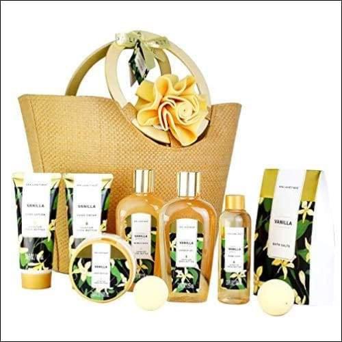 10PC Sunflower Vanilla Gift Basket