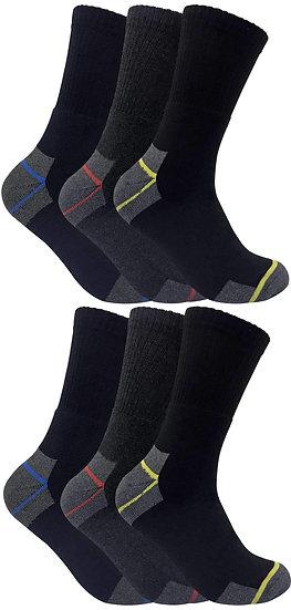 6 Pairs Mens Ultimate Work Socks