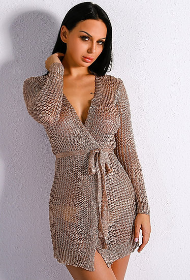 Rose Gold Sweater Dress