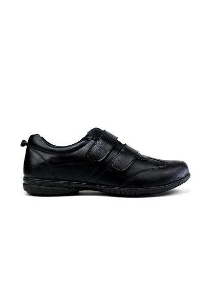 Men's Simple Double Strap Shoes Black