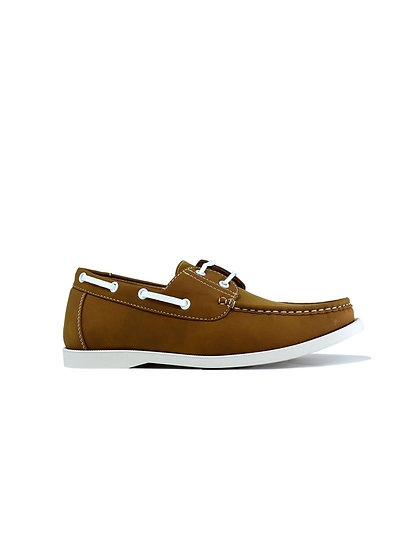 Lace Boat Shoes Tan