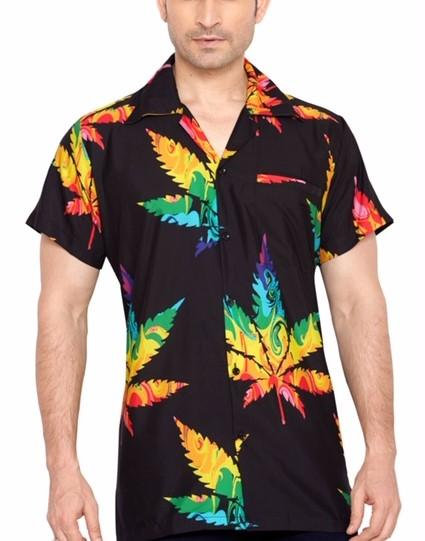 Men's Short Sleeve Casual Floral Hawaiian Shirt