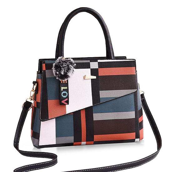 'Patchwork Style' Casual Large Shoulder Handbag
