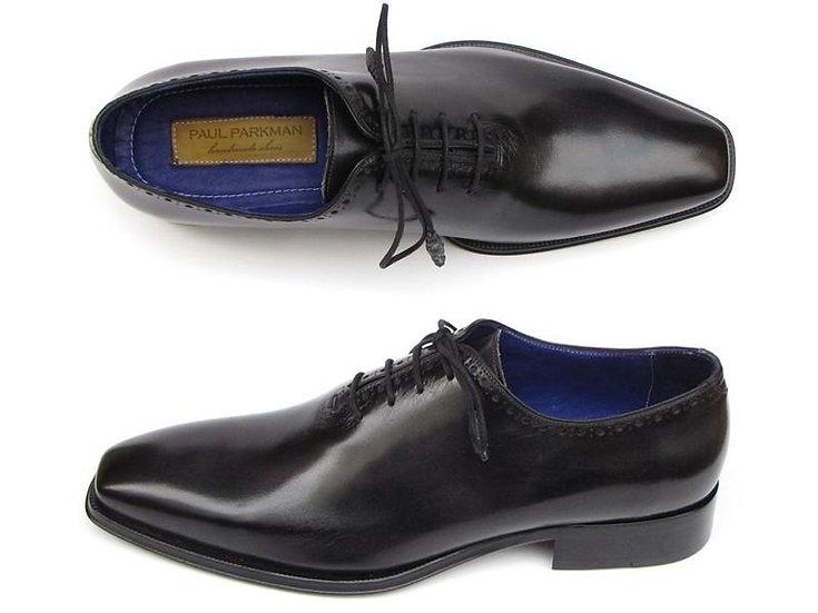 Paul Parkman Men's Plain Toe Oxfords Whole-Cut Black Shoes