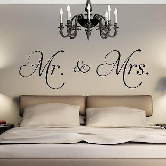 1Pc Vinyl Mr & Mrs Wall Sticker