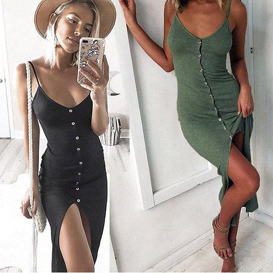 Strappy V-Neck Dress