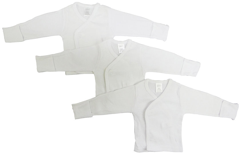 3 Pack Bambini Long Sleeve Side Snap With Mittens