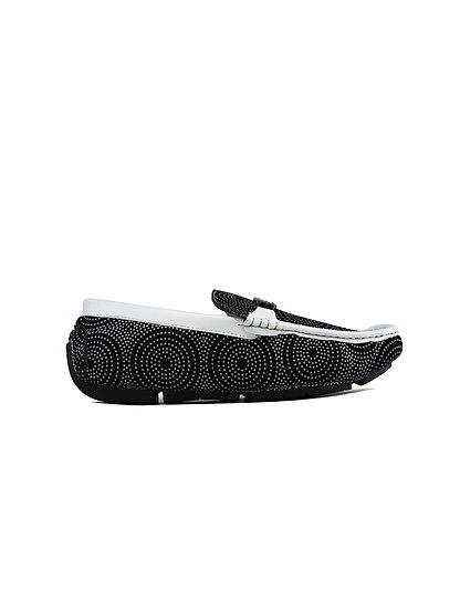 Men's White Target Loafers