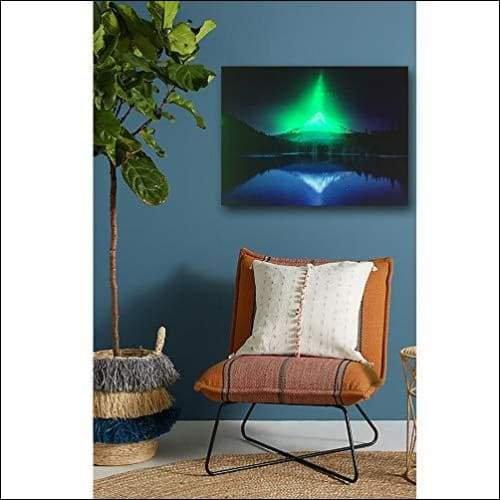 Blue Lake Mountain LED Canvas Wall Art