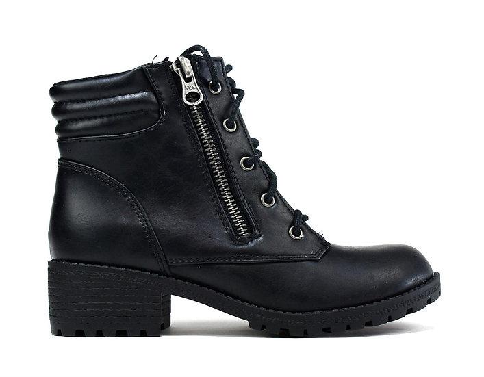 Kid's Stevie Biker Zip Up Boot Black