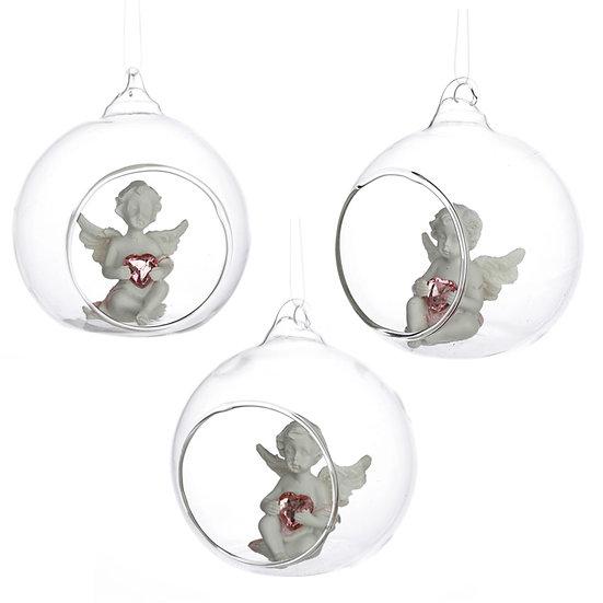 Peace of Heaven Cherub - Sweet Dream Glass Bauble