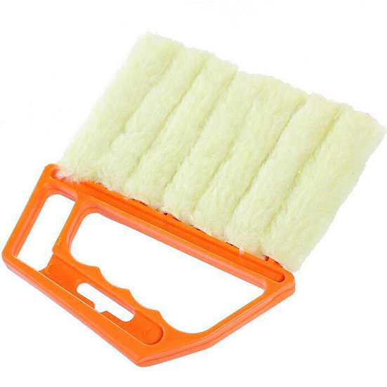 1pc Portable Plastic Microfiber Blinds Cleaning Tool