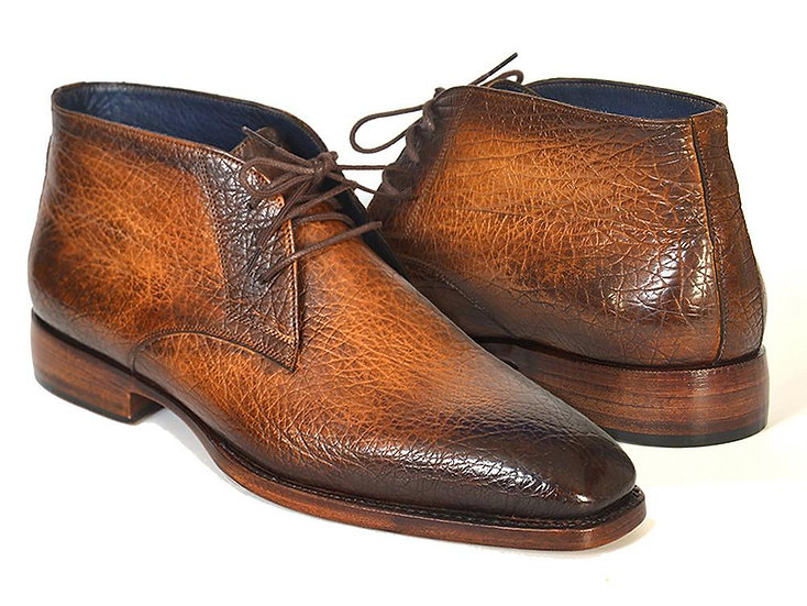 Paul Parkman Men's Brown & Camel Chukka Boots