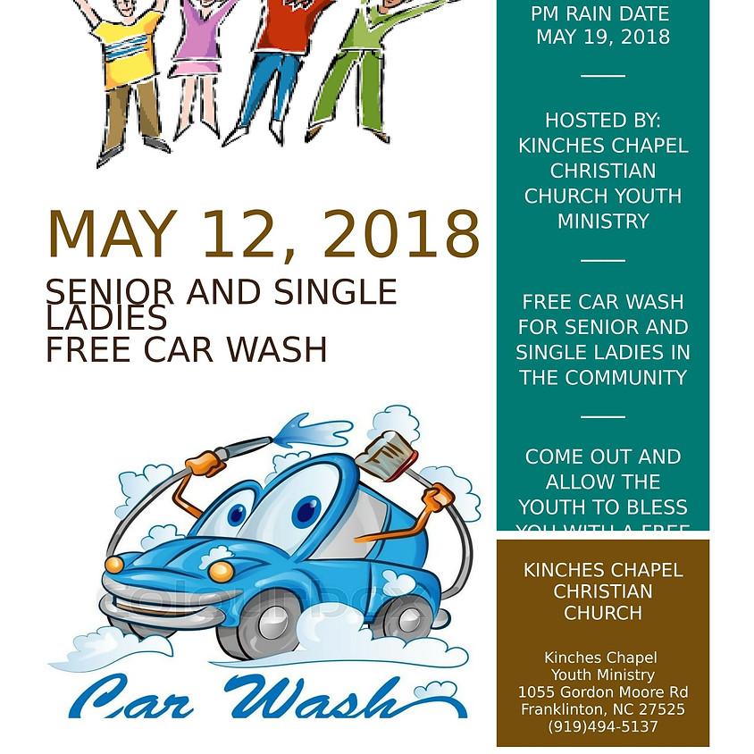 Free Car Wash for Singles & Senoirs