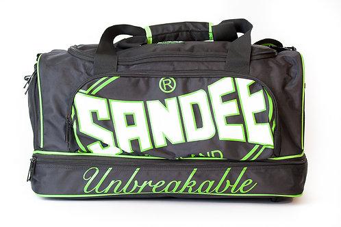 Sandee Heavy-Duty Black & Green Duffle