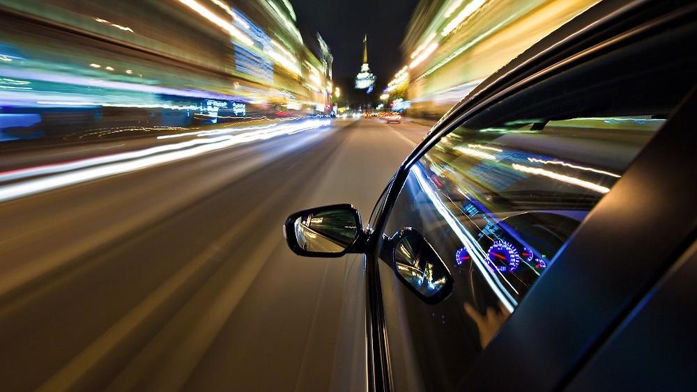 Speeding car...