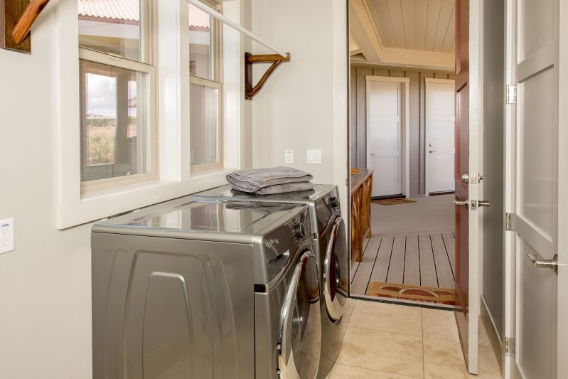 Laundry room leads out to the Ohana unit which will have a long term tenant (operator) in residence. The units are private from each other and the laundry room is not shared.