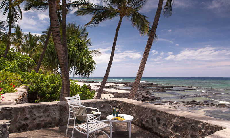 Enjoy sitting out on the ocean front sitting area