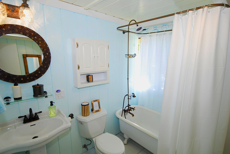 Bathroom can be accessed from master bedroom or hallway