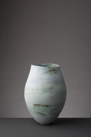 Medium Copper Green Vessel