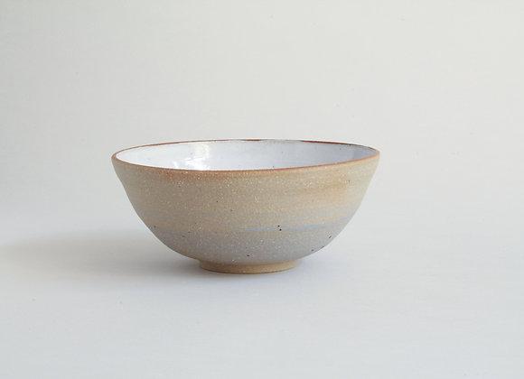 Everyday bowl with brushed blue slip