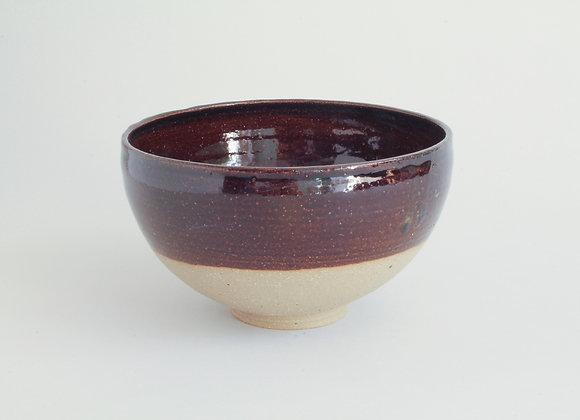 Tenmoku glazed ramen bowl