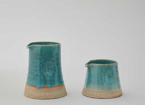 Small green glazed jug