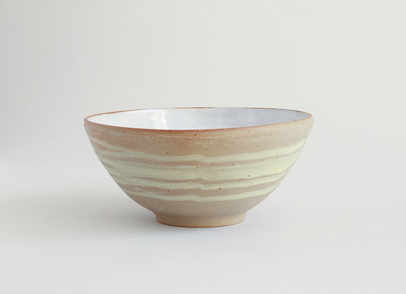 Everyday bowl with yellow brushed slip