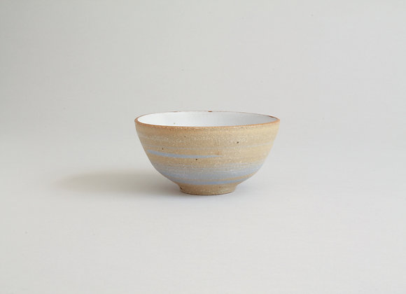 Dipping bowl with blue slip