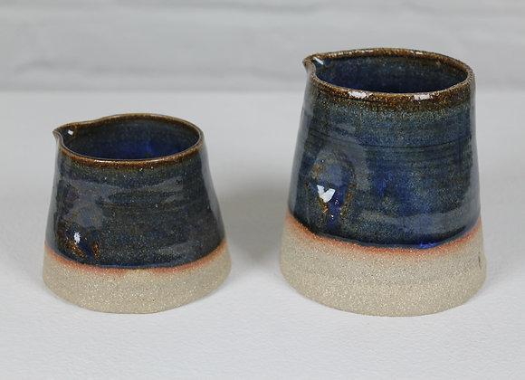 Large blue glazed jug