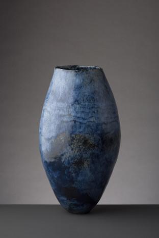 Tall Cobalt Blue Vessel