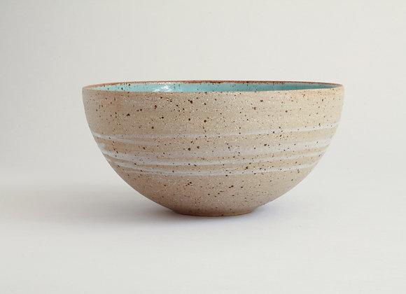 Duck egg blue serving bowl