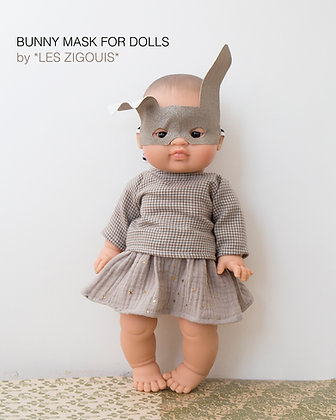Bunny mask for doll