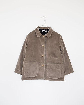 CORD JACKET LINED FAUX FUR #01