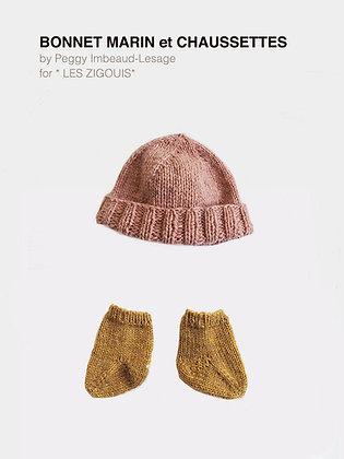 Patron/ pattern bonnet MARIN + chaussettes