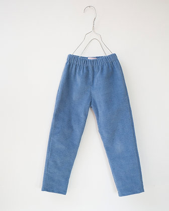 PANTALON VELOURS blue