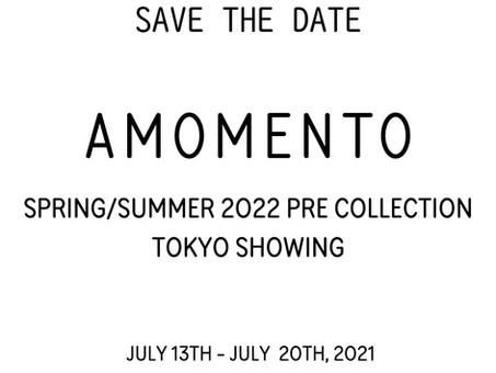 SAVE THE DATE! AMOMENTO SS22プレコレクション商談会